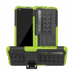 Case for Xiaomi Mi 10 (Pro) - Heavy Duty Hybrid Tough Rugged Dual Layer Armor - Kickstand Cover - Green
