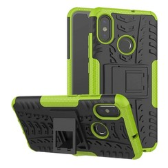 Case for Xiaomi Mi 8 - Heavy Duty Hybrid Tough Rugged Dual Layer Armor - Kickstand Cover - Green