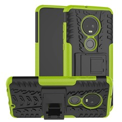 Schokbestendige Back Cover - Motorola Moto G7 - Groen