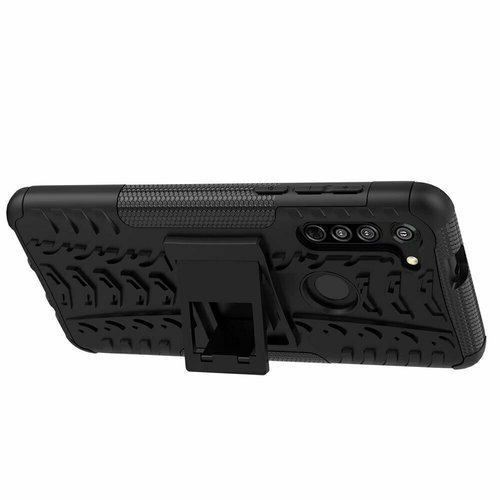 Cover2day  Case for Motorola Moto G8 - Heavy Duty Hybrid Tough Rugged Dual Layer Armor - Kickstand Cover - Black