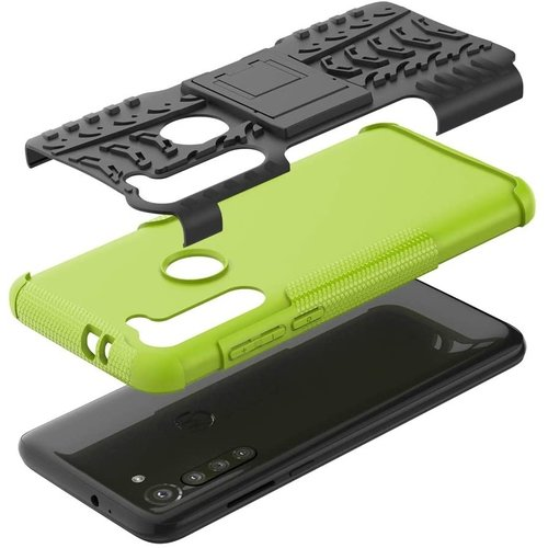 Cover2day  Case for Motorola Moto G8 Power - Heavy Duty Hybrid Tough Rugged Dual Layer Armor - Kickstand Cover - Green