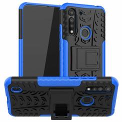Motorola Moto G8 Power Lite Hoesje - Schokbestendige Back Cover - Blauw