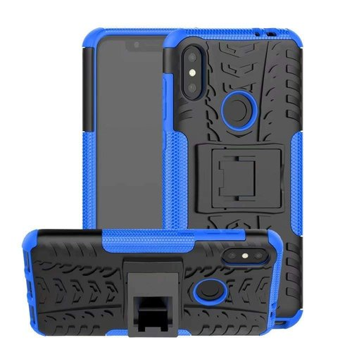 Cover2day  Case for Motorola Moto One Power (P30 Note) - Heavy Duty Hybrid Tough Rugged Dual Layer Armor - Kickstand Cover - Blue