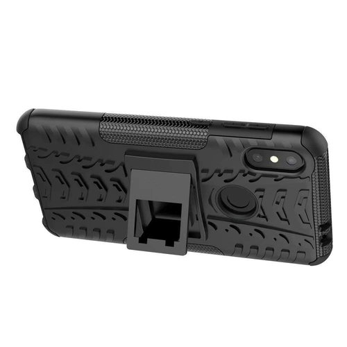Cover2day  Case for Motorola Moto One Power (P30 Note) - Heavy Duty Hybrid Tough Rugged Dual Layer Armor - Kickstand Cover - Black