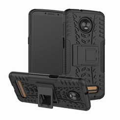 Schokbestendige Back Cover - Motorola Moto Z3 Play - Zwart
