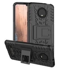 Schokbestendige Back Cover - Motorola Moto Z4 Play - Zwart