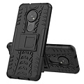 Cover2day  Case for Nokia 6.2 - Heavy Duty Hybrid Tough Rugged Dual Layer Armor - Kickstand Cover - Black
