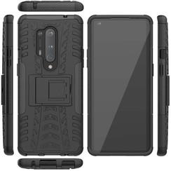 OnePlus 8 Pro Hoesje - Schokbestendige Back Cover - Zwart