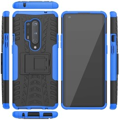 Case for OnePlus 8 Pro - Heavy Duty Hybrid Tough Rugged Dual Layer Armor - Kickstand Cover - Blue