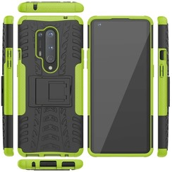 Case for OnePlus 8 Pro - Heavy Duty Hybrid Tough Rugged Dual Layer Armor - Kickstand Cover - Green