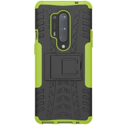Cover2day  Case for OnePlus 8 Pro - Heavy Duty Hybrid Tough Rugged Dual Layer Armor - Kickstand Cover - Green