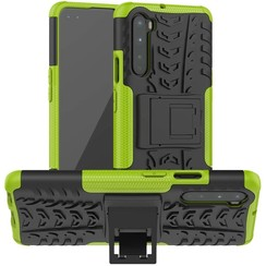 Case for OnePlus Nord - Heavy Duty Hybrid Tough Rugged Dual Layer Armor - Kickstand Cover - Green