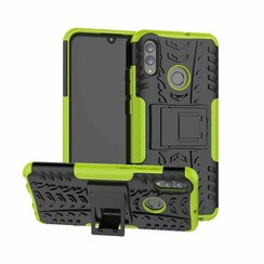 Case for Huawei P Smart 2019 - Heavy Duty Hybrid Tough Rugged Dual Layer Armor - Kickstand Cover - Green
