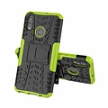 Cover2day  Case for Huawei P Smart 2019 - Heavy Duty Hybrid Tough Rugged Dual Layer Armor - Kickstand Cover - Green