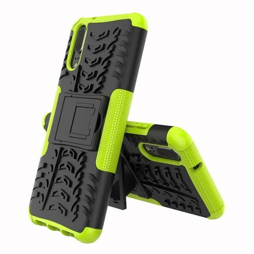 Cover2day  Case for Huawei P20 Lite - Heavy Duty Hybrid Tough Rugged Dual Layer Armor - Kickstand Cover - Green