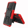 Cover2day  Case for Huawei P20 Lite - Heavy Duty Hybrid Tough Rugged Dual Layer Armor - Kickstand Cover - Red