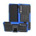 Cover2day  Case for Huawei P30 - Heavy Duty Hybrid Tough Rugged Dual Layer Armor - Kickstand Cover - Blue