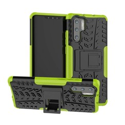 Case for Huawei P30 Pro - Heavy Duty Hybrid Tough Rugged Dual Layer Armor - Kickstand Cover - Green