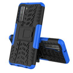 Case for Huawei P40 - Heavy Duty Hybrid Tough Rugged Dual Layer Armor - Kickstand Cover - Blue
