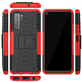 Cover2day  Case for Huawei P40 - Heavy Duty Hybrid Tough Rugged Dual Layer Armor - Kickstand Cover - Red