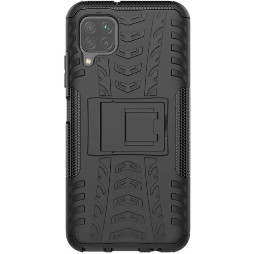 Cover2day  Case for Huawei P40 lite - Heavy Duty Hybrid Tough Rugged Dual Layer Armor - Kickstand Cover - Black