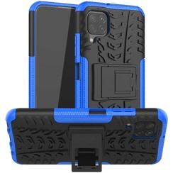 Case for Huawei P40 lite - Heavy Duty Hybrid Tough Rugged Dual Layer Armor - Kickstand Cover - Blue