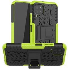 Case for Huawei P40 lite - Heavy Duty Hybrid Tough Rugged Dual Layer Armor - Kickstand Cover - Green