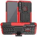 Cover2day  Case for Huawei P40 Lite E - Heavy Duty Hybrid Tough Rugged Dual Layer Armor - Kickstand Cover - Red