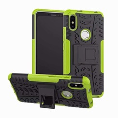Case for Xiaomi Redmi S2 - Heavy Duty Hybrid Tough Rugged Dual Layer Armor - Kickstand Cover - Green