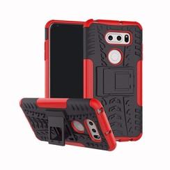 Schokbestendige Back Cover - LG V35 ThinQ - Rood
