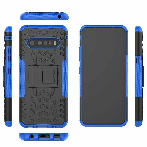 Cover2day  Case for LG V60 ThinQ 5G - Heavy Duty Hybrid Tough Rugged Dual Layer Armor - Kickstand Cover - Blue
