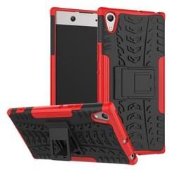 Schokbestendige Back Cover voor Sony Xperia XA1 Ultra - Rood