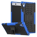 Cover2day  Case for Sony Xperia XA1 Ultra - Heavy Duty Hybrid Tough Rugged Dual Layer Armor - Kickstand Cover - Blue