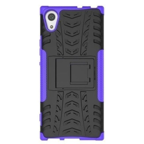 Cover2day  Case for Sony Xperia XA1 Ultra - Heavy Duty Hybrid Tough Rugged Dual Layer Armor - Kickstand Cover - Purple