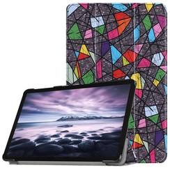 Case2go - Case for Samsung Galaxy Tab A 10.5 Slim Tri-Fold Book Case - Lightweight Smart Cover - Retro