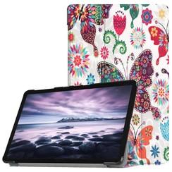 Case2go - Case for Samsung Galaxy Tab A 10.5 Slim Tri-Fold Book Case - Lightweight Smart Cover Vlinder
