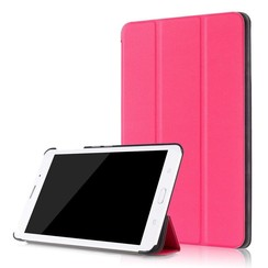 Case2go - Case for Samsung Galaxy Tab A 8.0 SM-T380 Slim Tri-Fold Book Case - Lightweight Smart Cover - Hot Pink