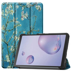Samsung Galaxy Tab A 8.4 (2020) hoes - Tri-Fold Book Case - Witte Bloesem