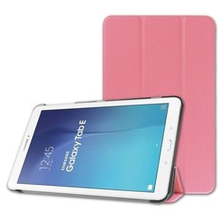 Case2go - Case for Samsung Galaxy Tab E 9.6 Slim Tri-Fold Book Case - Lightweight Smart Cover - Pink