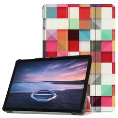 Case2go - Case for Samsung Galaxy Tab S4 Slim Tri-Fold Book Case - Lightweight Smart Cover - Blocks