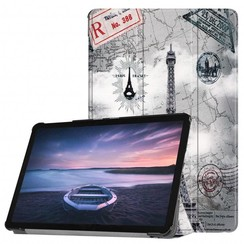 Case2go - Case for Samsung Galaxy Tab S4 Slim Tri-Fold Book Case - Lightweight Smart Cover mit Eiffeltower