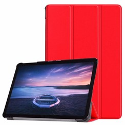 Case2go - Case for Samsung Galaxy Tab S4 Slim Tri-Fold Book Case - Lightweight Smart Cover - Red