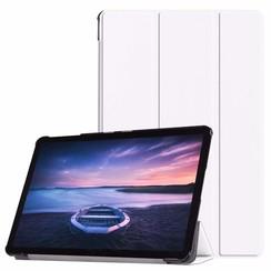 Case2go - Case for Samsung Galaxy Tab S4 Slim Tri-Fold Book Case - Lightweight Smart Cover - White