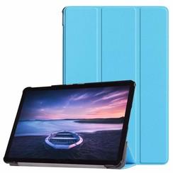Case2go - Case for Samsung Galaxy Tab S4 Slim Tri-Fold Book Case - Lightweight Smart Cover - Blue