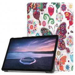 Case2go - Case for Samsung Galaxy Tab S4 Slim Tri-Fold Book Case - Lightweight Smart Cover Vlinder