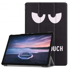 Case2go - Case for Samsung Galaxy Tab S4 Slim Tri-Fold Book Case - Lightweight Smart Cover - Don't touch me