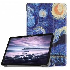Case2go - Case for Samsung Galaxy Tab S4 Slim Tri-Fold Book Case - Lightweight Smart Cover mit sternenhimmel