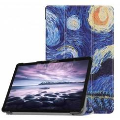 Samsung Galaxy Tab S4 Tri-Fold Book Case met sterrenhemel