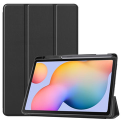 Case2go - Case for Samsung Galaxy Tab S6 Lite - Slim Tri-Fold Book Case - Lightweight Smart Cover mit Stylus Pen holder - Black