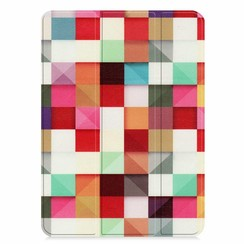 Apple iPad Pro 11 (2018) hoes - Tri-Fold Book Case - Blocks